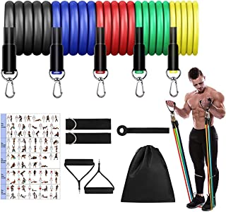Wins Resistance Bands Set (11pcs), Exercise Bands with Door Anchor & Handles, Home Gym Equipment Men Women Legs Ankle for ...