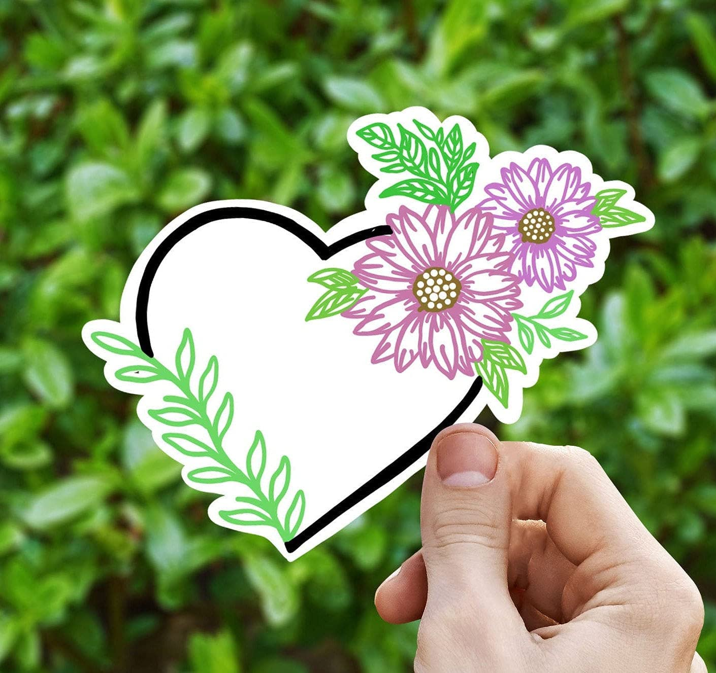 Flower Heart Vinyl Sticker Laptop Decal Yeti Don't miss the campaign Max 69% OFF