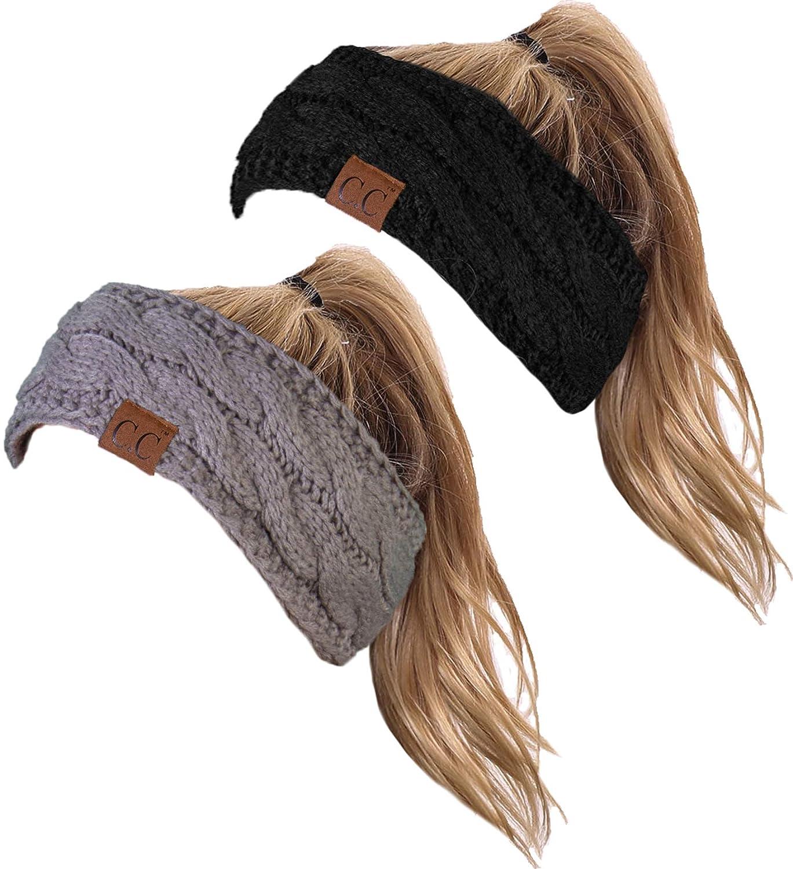 HW-6033-2-20a-0676 Headwrap Bundle - Black & Dove Grey (2 Pack)