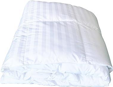 Cloud Nine Comforts Down Comforter, Super Stripe White Goose Down-King Comforter-for a Good Night Sleep-Premium Luxury Bedding-Superior White