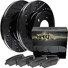 For 2005-2009 Subaru Legacy, Outback Rear Black Hart Brake Rotors Kit+Ceramic Pads