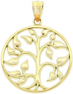 Gold Tree of Life Charm - 14 Karat Solid Gold