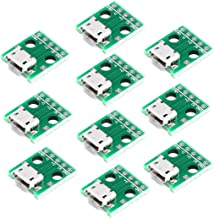 HiLetgo 10pcs Micro USB to DIP Adapter 5pin Female Connector B Type PCB Converter pinboard