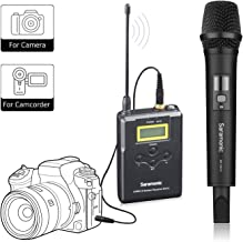 Saramonic UwMicA Sistema de micrófono de mano UHF inalámbrico portátil profesional para cámara / videocámara DSLR, compatible con Canon / Nikon / Sony / Panasonic / BlackMagic / Zoom / Tascam