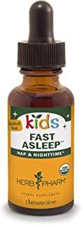 Herb Pharm Kids Certified-Organic Alcohol-Free Fast Asleep Liquid Herbal Formula, 1 Ounce (FKSLEEP01)