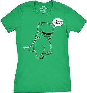 Women's I Love You This Much T-Rex T Shirt Funny Trex Dinosaur Tee Dino Tee