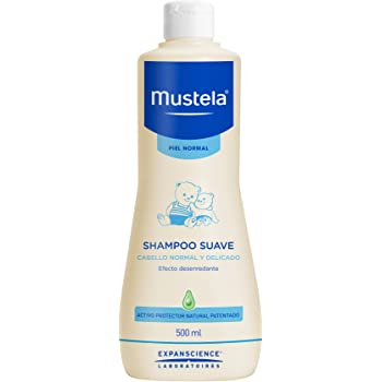 Mustela Mustela Shampoo Suave Para Piel Normal Libre De Jabón, color Multicolor, 500 ml, pack of/paquete de