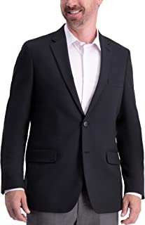 Haggar Men's Active Series Solid Gab Tailored Fit Blazer Business Suit Jacket
