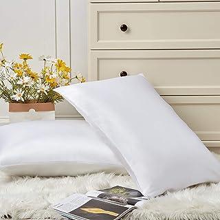 Wavve Satynowa poszewka na poduszkę zestaw 2 poszewek na poduszkę standardowy rozmiar, poszewki na poduszki z mikrofibry d...