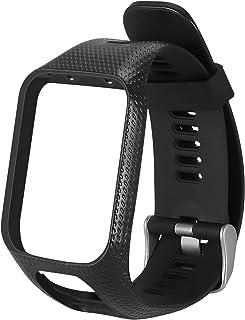 Silikonklockarmband Wrist Band Strap Replacement rem för för TomTom 2 3 Runner 2 3 Spark 3, Black