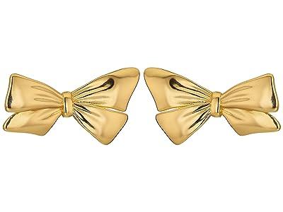 J.Crew Metal Bow Earrings (Burnished Gold) Earring