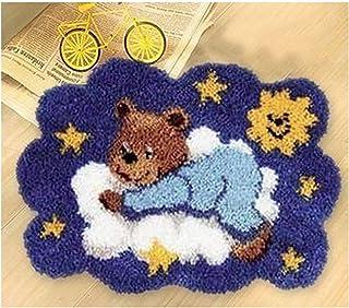 Kit de loquet Kit de Bricolage Tapis de Bricolage Handrade Crocheting Mignon Bear Motif Modèle Tapis Broderie Ensemble pou...