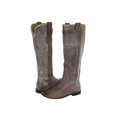 Frye Paige Tall Riding (Grey Burnished Antique Leather) Women