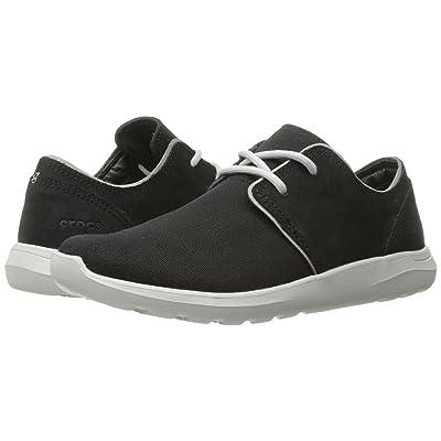 Crocs Kinsale 2-Eye Shoe (Black/Pearl White) Men