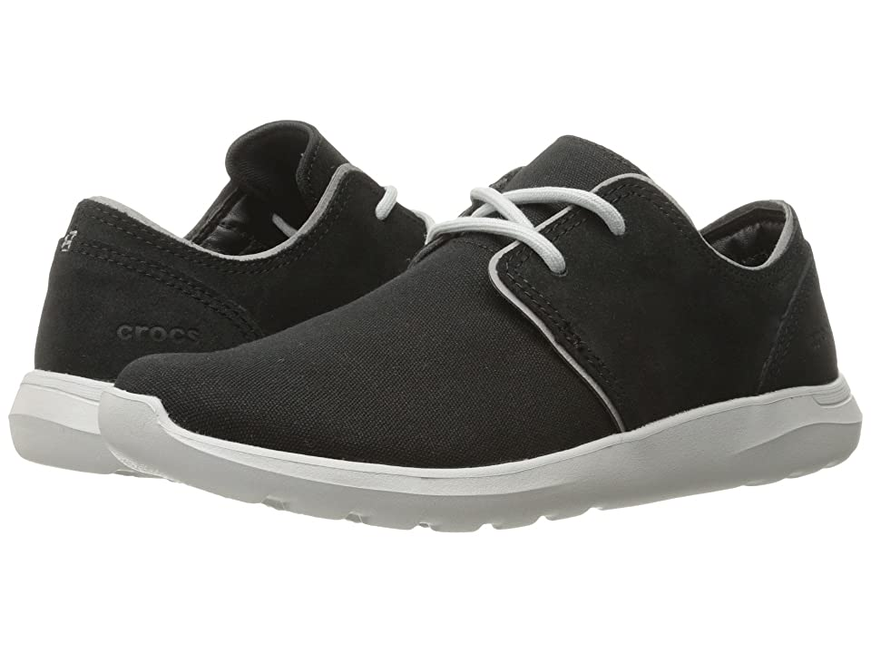 c9247775060e41 Crocs Kinsale 2-Eye Shoe (Black Pearl White) Men s Lace up casual Shoes