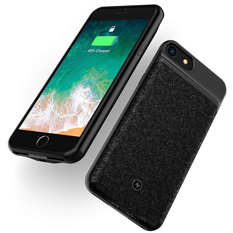 WELUV iPhone 6 6s 7 8 対応 Qi バッテリーケース 無線 充電 ケース バッテリー内蔵ケース 2800mAh 薄型 ケース型バッテリー モバイルバッテリー カバー ブラック