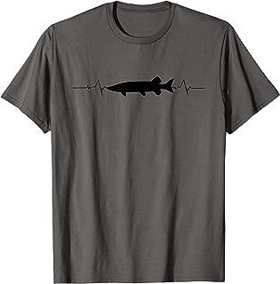 Musky Fishing T-Shirt - Muskie Heartbeat Fishing Shirt Gift