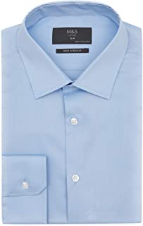 Marks & Spencer Men's Slim Fit Stretch Cotton Shirt