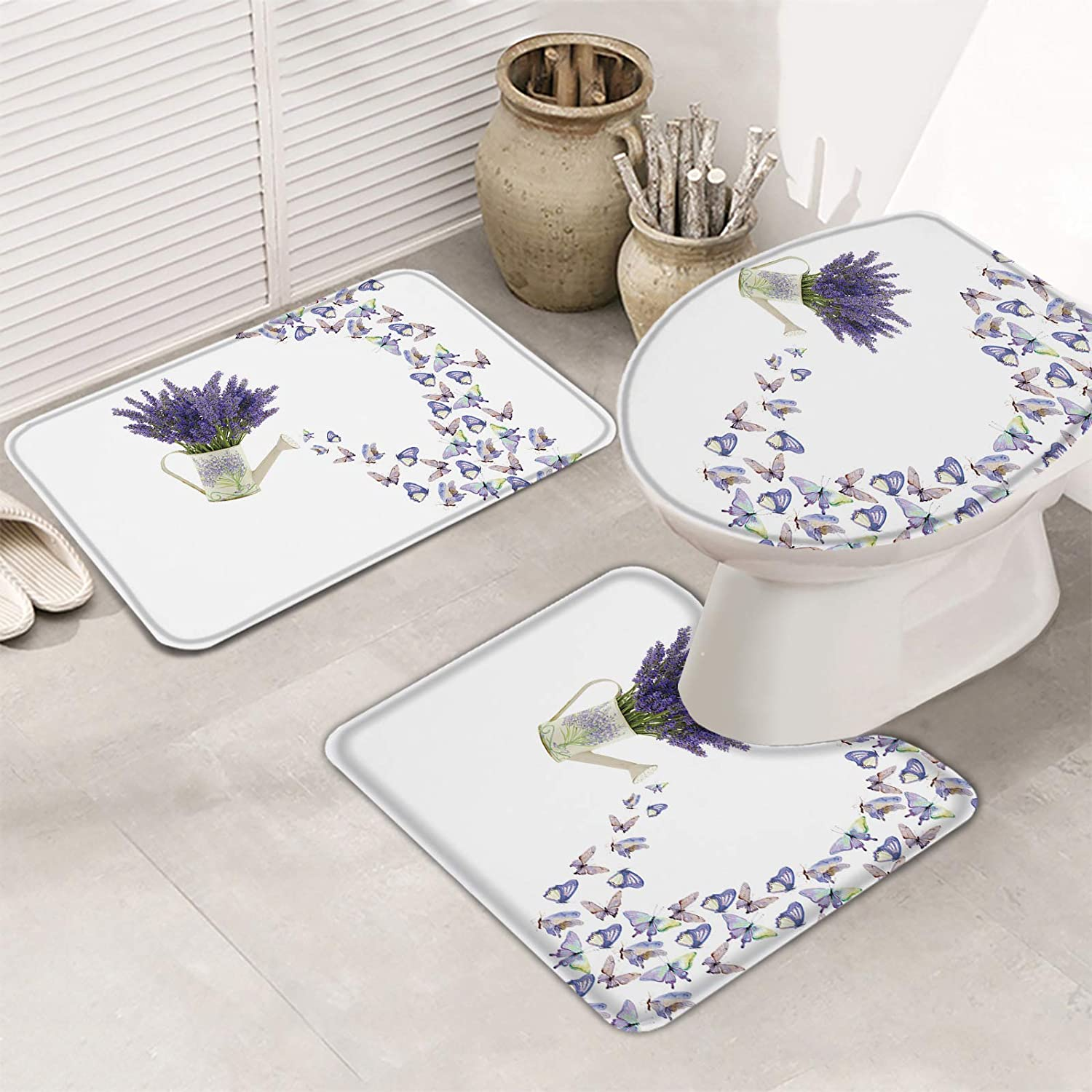 A surprise price is realized 3 Piece Bathroom Rugs Set Bath Ultra for Max 84% OFF Slip Mats Non