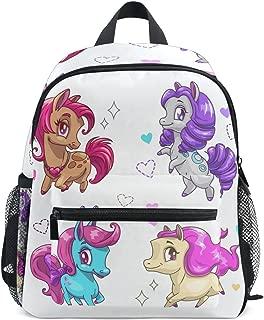 Little Cute Vector Pony PreSchool Bag Kids Backpack for Toddler Boy Girls Age 2-7 ¡