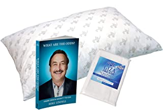 MyPillow Standard Pillow with Pillowcase and Book Bundle – What are The Odds? by Mike Lindell