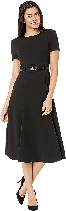 f95b07e558d4 Calvin klein ruffle sleeve sheath dress