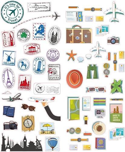 wholesale Zink Polaroid lowest Colorful & Decorative Travel Stickers For 2x3 sale Photo Paper, Colorful online