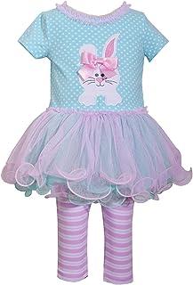 e646e3035a8 Bonnie Jean Holiday Bunny Easter Spring Girls  Appliqued Skirt Dress Set