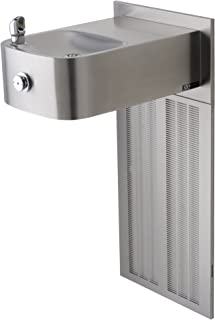 Haws H1109.8 Stainless Steel Barrier-Free Wall Mounted Satin Finish Electric Water Cooler (Chiller and Mounting Frame Not Included)