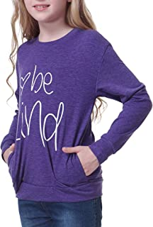Timeshow Girl's T-Shirt Tops Long Sleeve Shirt Graphic Tees Kids Casual Blouse Size 3-12Years