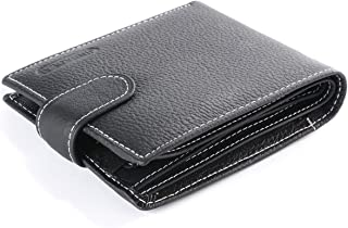 XCSOURCE Men'S Genuine Leather Wallet Credit/Id Card Holder Black