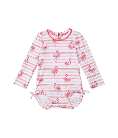 Hatley Kids Floral Flamingos Rashguard Swimsuit (Infant)