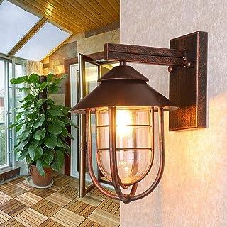 Aaedrag Metal Gold Vintage Lantern Modern Outdoor Wall Lamp Red Bronze Outdoor Wall Light Exterior IP44 E27 Decoration Sco...