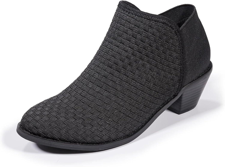Zee Alexis Monica Woven Ankle Booties Black