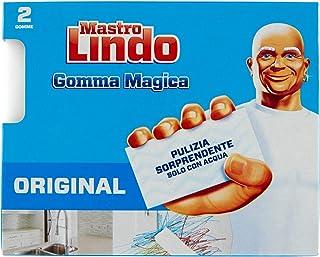 Mastro Lindo Magische vuilgum, met drie lagen met elk 2 vuilgums.
