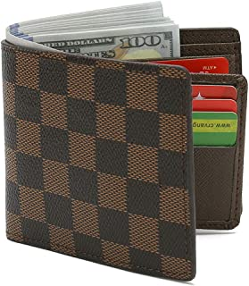 Wallets For Mens Leather Slim Bifold Blocking Card FRID Men Wallet With ID Window Card Case And Gift Box