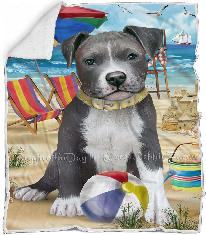 Pet Friendly Beach Pitbull Dog Max Daily bargain sale 87% OFF Fluffy - Multicolor Warm Blanket
