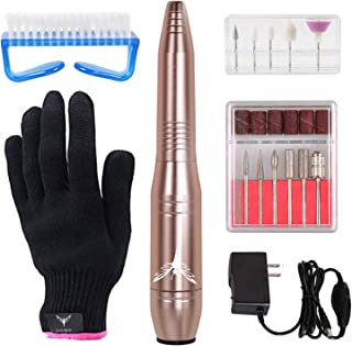 Ejiubas Electric Nail File Portable Nail Drill Nail Efile Nail Drill Machine for Manicure Pedicure Home & Salon