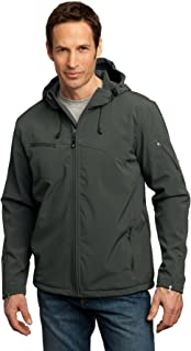 Port Authority Men's Textured Hooded Soft Shell Jacket