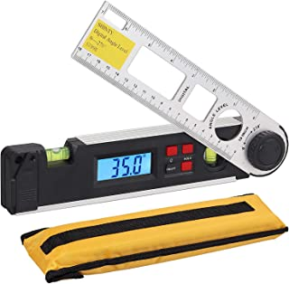 Neoteck Digital Inclinometer Protractor 0~270°, Backlight Angle Finder Ruler with Data Hold Function | Horizontal and Vertical Bubble Level