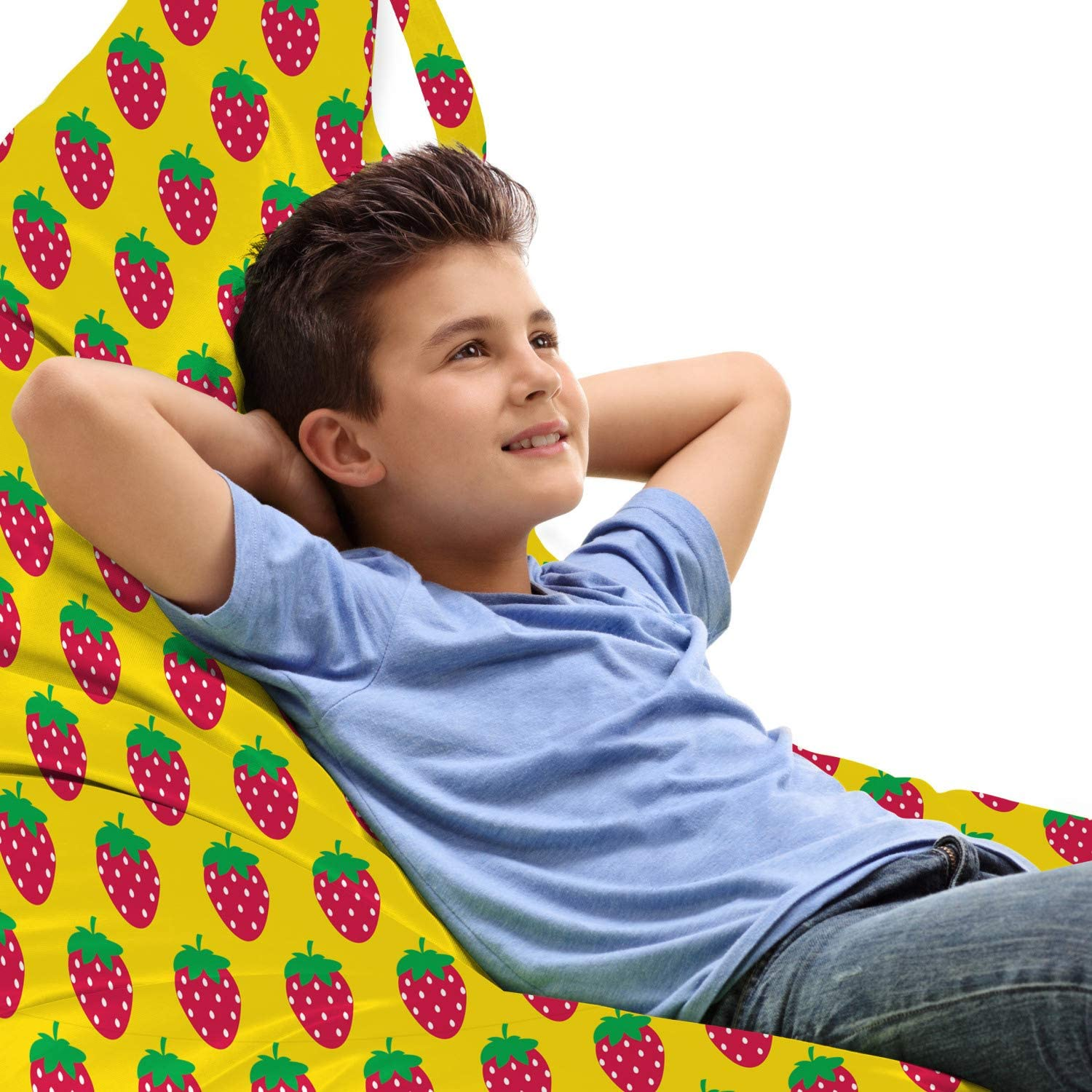 Ambesonne Retro Lounger Chair Max 69% OFF Bag Playroom Fruits Sw Rapid rise Strawberry