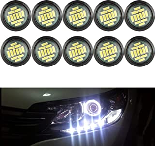 YUK 10x 12SMD 12W Eagle Eye DRL LED Rock Lights For JEEP ATV Off Road Truck Under Trail Rig Lights White