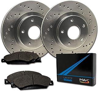 Max Brakes Rear Performance Brake Kit [ Premium Cross Drilled Rotors + Metallic Pads ] TA088822 Fits: 1991-1995 Acura Legend | 1996-1998 RL | 1995-1998 Honda Odyssey