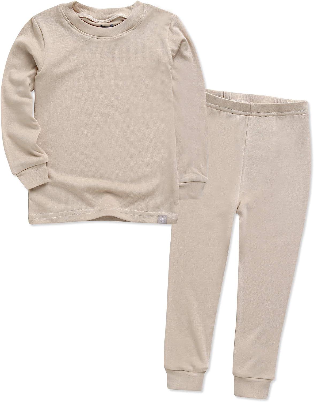 VAENAIT BABY 12M-12Y Toddler Kids Unisex Girls & Boys Soft Comfy Modal Tencel Solid Raglan Sleepwear Pajamas Pjs 2pcs Set