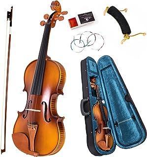 AKLOT 4/4 Full Size Violin Solid Maple Fiddle Acoustic Violin Kit for Beginners Professionals with Hygrometer Rod Shoulder...
