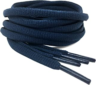 2Pair Oval Shoes laces 42 Colors Half Round 1/4