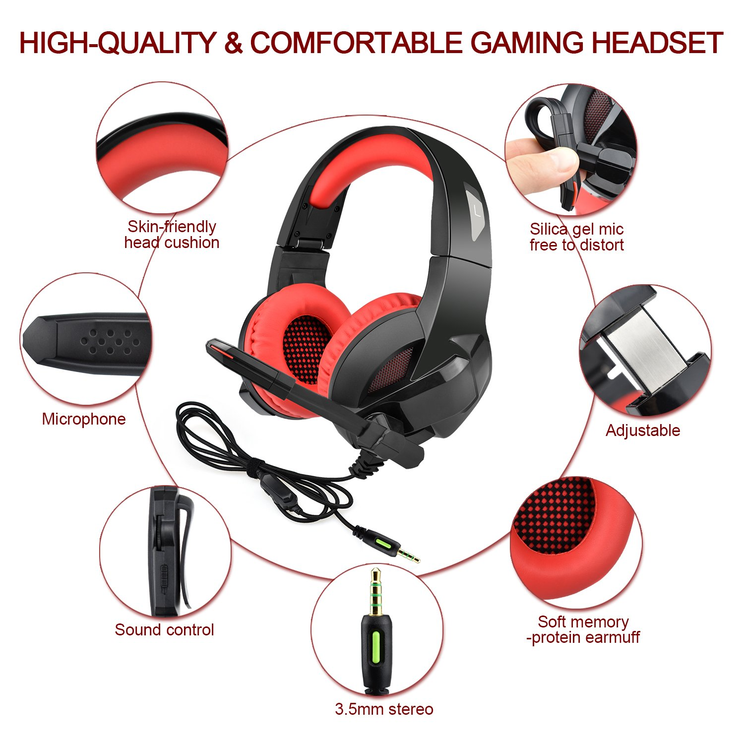 INSMART PS4 Gaming Headset, Foldable