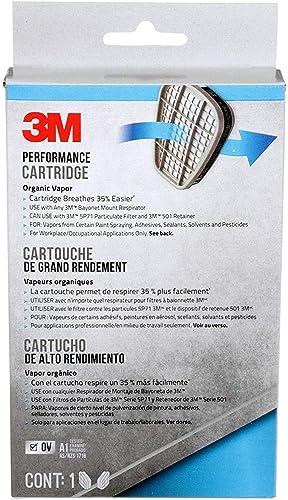 3M 6001PB1-3 Organic Vapor Replacement Cartridges, 3-Pairs