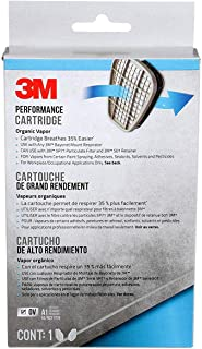 3M 6001PB1-3 Organic Vapor Replacement Cartridges, 3-Pairs