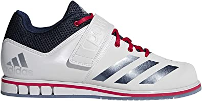 Chaussures blanches d'haltérophilie Adidas Powerlift 3.1 étoiles ...